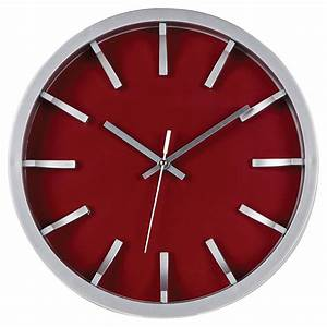 Horloge Murale Rouge : horloge murale rouge argent 12 rona ~ Teatrodelosmanantiales.com Idées de Décoration