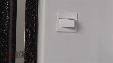 whirlpool refrigerator freezer replace door switch  youtube