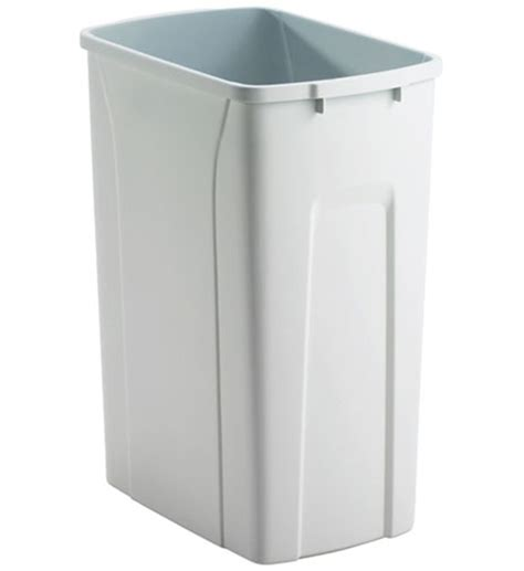 plastic kitchen trash can replacement plastic waste bin 35 quart in kitchen trash cans