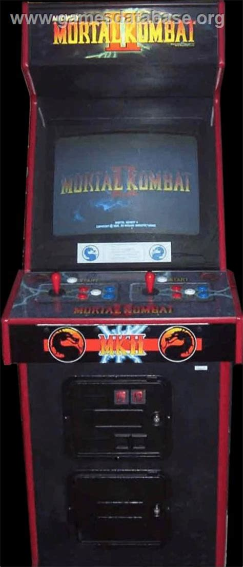 mortal kombat arcade cabinet mortal kombat ii challenger arcade database
