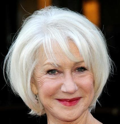 wedge haircuts for gray hair helen mirren wedge hairstyle casual evening everyday 3301