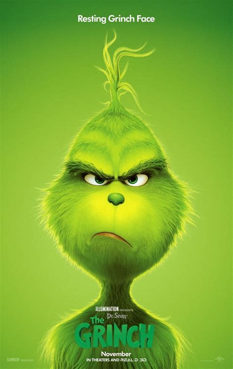 grinch shows   resting grinch face   poster