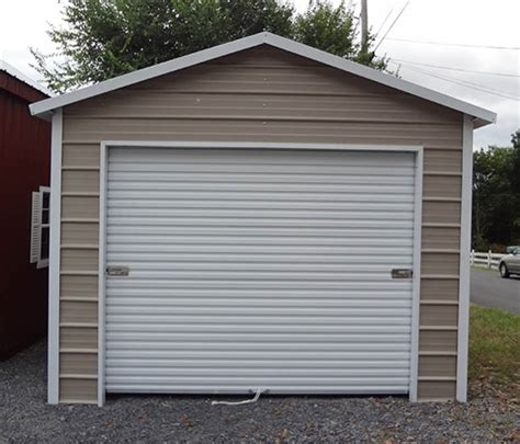 12x21 Boxed Eave Metal Garage  Alan's Factory Outlet