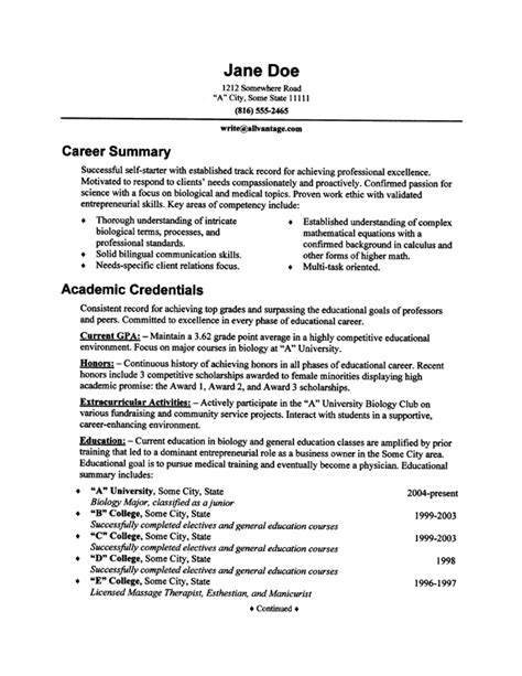 pin resume sles image search results on