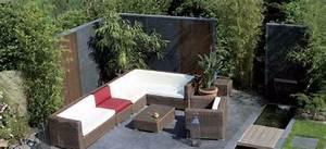 garten im quadrat sichtschutz wand aus fiberglas With garten planen mit balkon sichtschutzwand