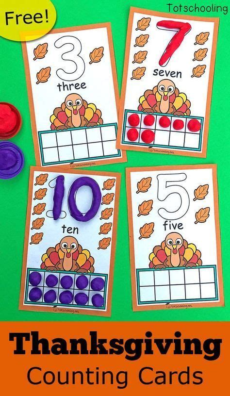 thanksgiving ten frame counting cards free printables