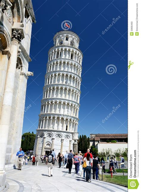 Pisa Leaning Tower, Tuscany Landmark Editorial Stock