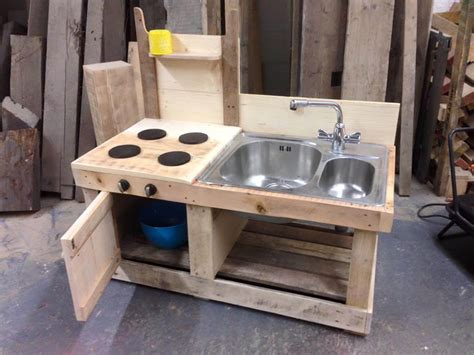 building a kitchen island with cabinets pallet mud kitchen with sink 99 pallets