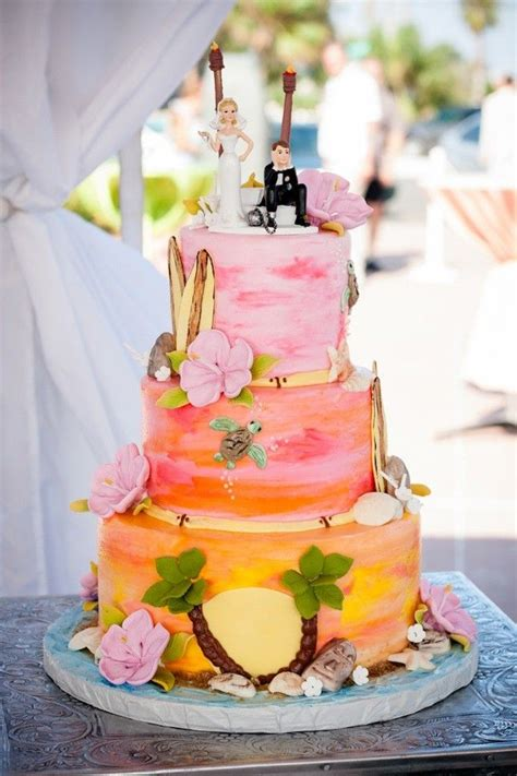 Create A Beach Scene For Your Wedding Cake With This
