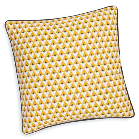 la redoute housse de canapé housse de coussin en coton jaune 40 x 40 cm maisons du monde