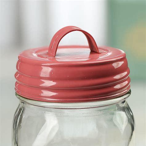 jar lid crafts coral mason jar lid with handle jar lids basic craft supplies craft supplies