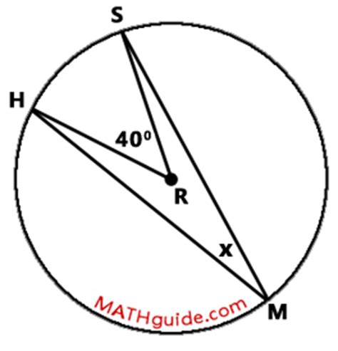 Inscribed Angle And Arc Relationship Lesson By Mathguide