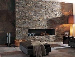 Naturstein Wandverkleidung Wohnzimmer : backstein wandverkleidung f r vintage rustikal wohnzimmer ~ Michelbontemps.com Haus und Dekorationen