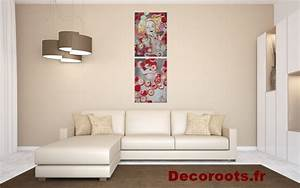 tableau deco cuisine design With salle de bain design avec tableau art contemporain design décoration