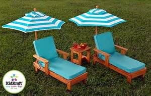 new 2 lounge chairs umbrellas set youth wood chaise