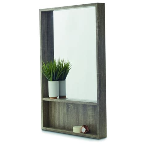 Bedroom Mirrors With Shelf by Rectangle Shelf Mirror Kmart