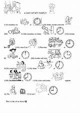 Daily Routine Routines Worksheet Coloring Telling Poster Template Simple Level sketch template