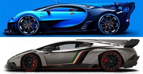 Bugatti Chiron Vs Lamborghini Veneno