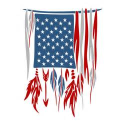 Feather American Flag SVG
