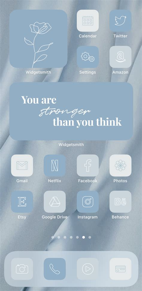 pastel blue ios 14 app icons aesthetic iphone app covers
