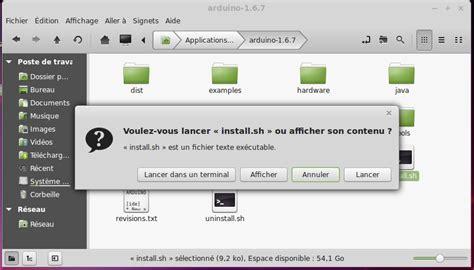 raccourci bureau ubuntu électronique en installation de l 39 ide arduino