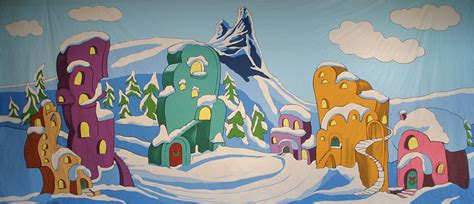 Grinch Backdrop by Whoville Musical Backdrops Grosh