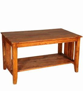 Sheesham Wood Center Table by Mudramark Online - Coffee