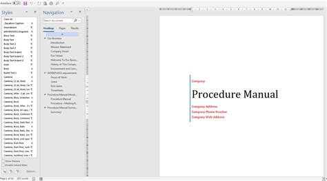 easy microsoft word policy  procedure manual