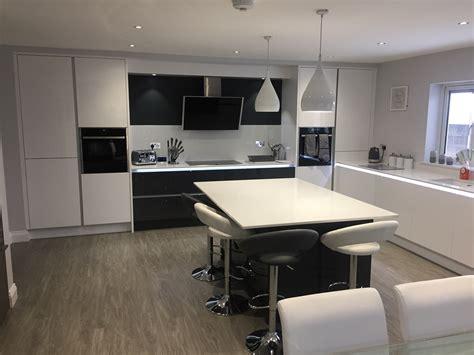 Tomba White Gloss And Graphite Kitchen Aston