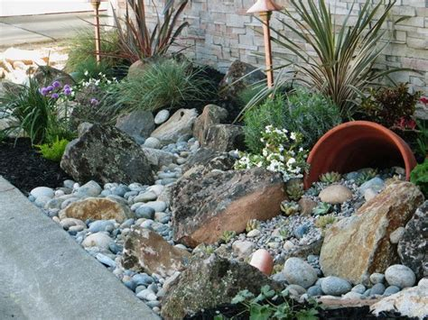 landscaping with rocks 25 best ideas about river rock gardens on pinterest backyard garden landscape gardening and