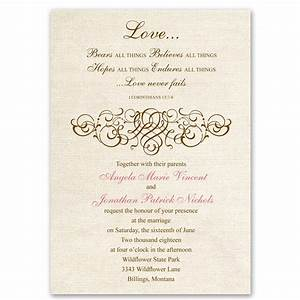 Rustic love invitation ann39s bridal bargains for Images of christian wedding invitations