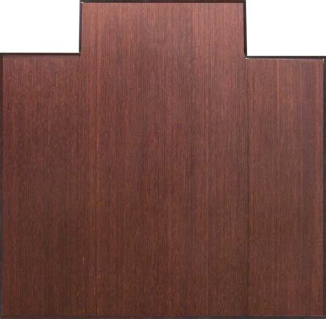 eco friendly bamboo wood office chair mat tri fold