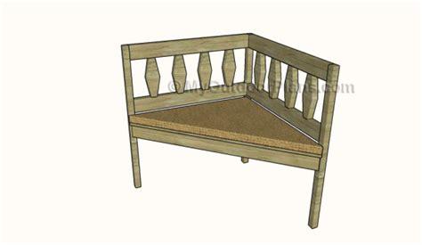 corner bench plans myoutdoorplans  woodworking