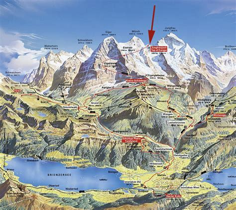 Rhythm And Alps Travel Map Directions And Location Kleine Scheidegg
