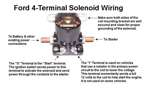 Ford Terminal Solenoid Wiring Mopar Connection