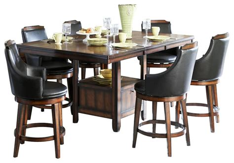 7 piece pub table set homelegance bayshore 7 piece counter height table set with