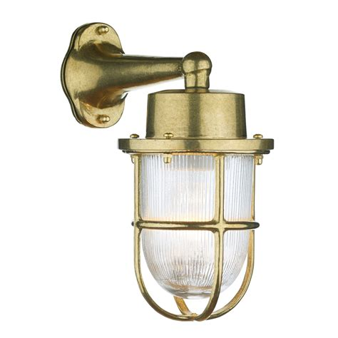 harbour outdoor wall light brass