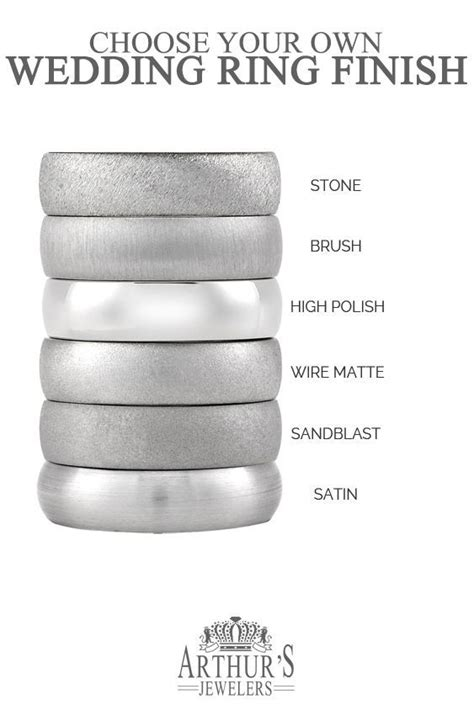 choose   wedding ring finishes  stone brushed
