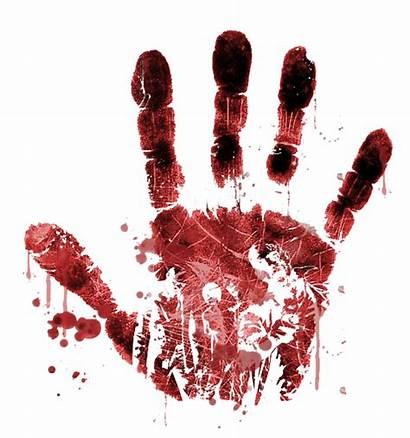 Horror Zombie Handprint Transparent Vector Background Icons