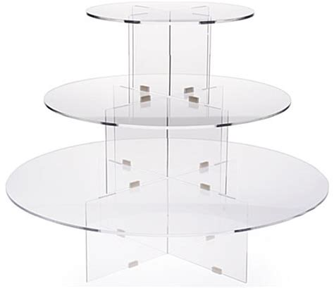 table top display risers 3 tier riser round clear acrylic tabletop display