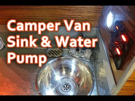 diy campervan sink water pump youtube