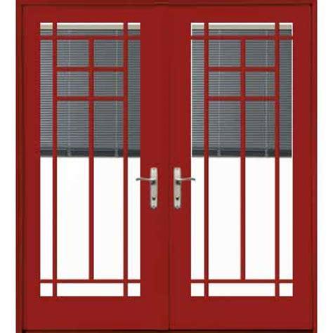 Pella Outswing Patio Doors by Pella Designer Series Aluminum Clad Wood Out Swing Patio