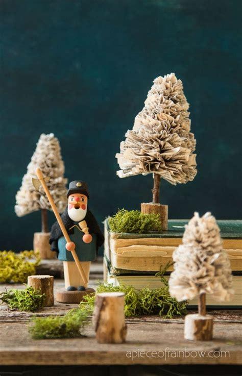 diy paper christmas trees vintage farmhouse  piece