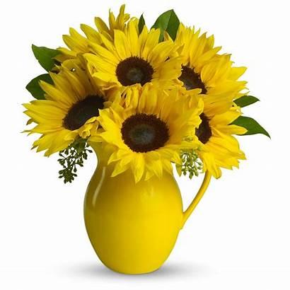 Sunflowers Vase Pitcher Sunny Sunflower Teleflora Bouquet