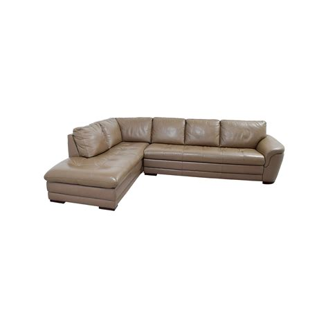 tufted leather sectional sofa 72 off raymour flanigan raymour flanigan garrison