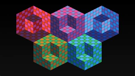 Download Wallpaper 1920x1080 Mesh, Squares, Geometric