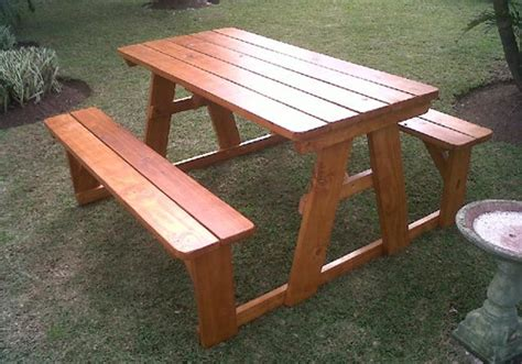 solid wooden outdoor timber patio tables and picnic tables