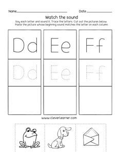 letter def sounds matching phonics worksheets