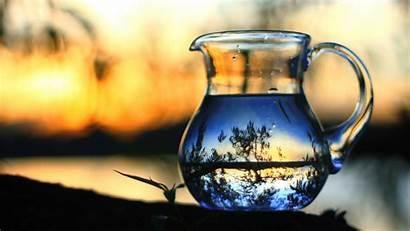 Jar Water Wallpapers Glass Reflection Bottles Yellow