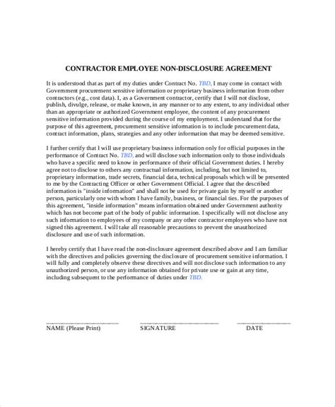 18+ Sample Contract Employee Agreements  Sample Templates